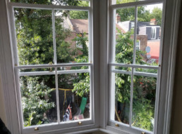 Sash window restoration by Cook Joinery, London.