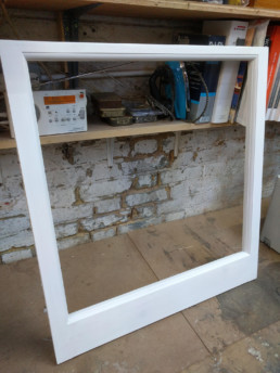 Traditional sash window making by Cook Joinery, London.